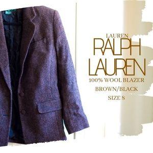 Lauren Ralph Lauren Women's Brown/Black Blazer 8